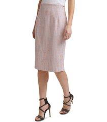 dkny tweed high-waist pencil skirt