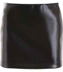 philosophy di lorenzo serafini faux leather mini skirt