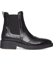 booties - flat - with elastic shoes chelsea boots svart angulus