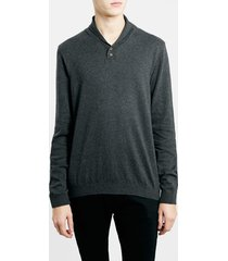 men's topman shawl collar sweater, size medium - black