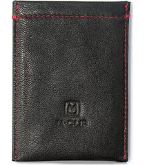 men's m-clip rfid card case - black
