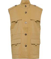 eyagz waistcoat vests knitted vests beige gestuz