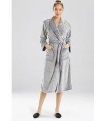 frosted cashmere fleece plush sleep & lounge bath wrap robe, women's, size xl, n natori