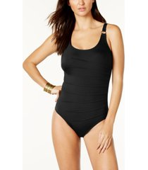 calvin klein starburst one-piece swimsuit, created for macy's women's swimsuit