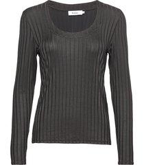 petr lla top: black, xs blus långärmad svart stylein