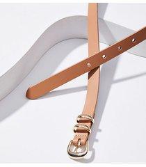 loft double ring leather belt