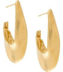 alighieri push back stopper earrings - metallic