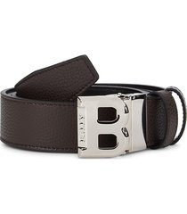 bally men's bising leather belt - coffee - size 44