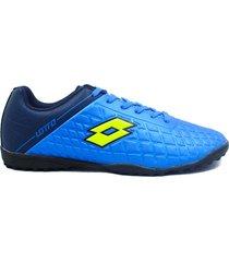 zapatillas para futbol torretin lotto guerrero tf h3a - azul