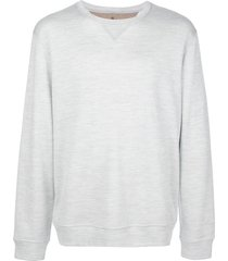 brunello cucinelli fine knit crew neck sweatshirt - grey