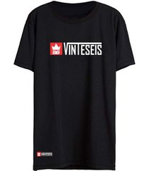 camiseta vinteseis manga curta name preto