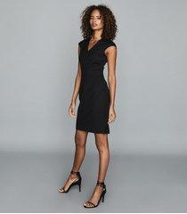 reiss hayes - tailored dress in black, womens, size 14