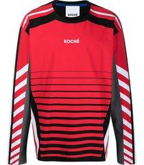 koché logo print long-sleeve t-shirt - red