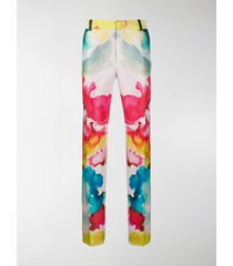 alexander mcqueen watercolour tailored trousers