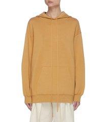 silk-cotton blend hoodie
