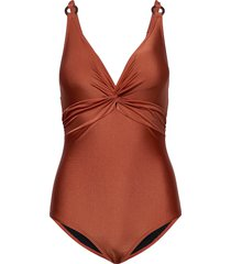 lucca swimsuit baddräkt badkläder brun missya