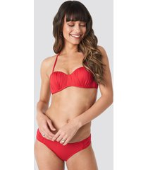 trendyol ruffled bikini bottom - red