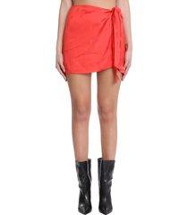 laneus skirt in red viscose