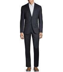regular fit johnstons lenon virgin wool suit