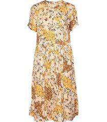 aliya dress jurk knielengte geel lollys laundry