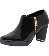 zapato negro marta sixto abotinado charol