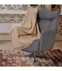 manta capa sofa algodão favo 1,60m x 2,20m bege - tessi
