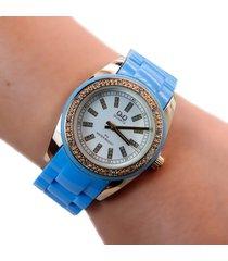 reloj q&q azul dayoshop