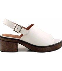 sandalia blanca briganti mujer butan