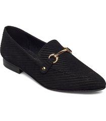 biabrenda suede loafer loafers låga skor svart bianco