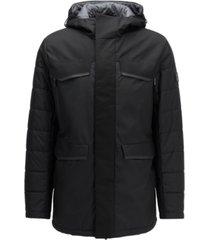 boss men's water-repellent parka jacket