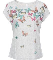 maglia con farfalle (grigio) - rainbow