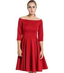 sukienka łódka czerwona