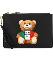 pouch with italian teddy bear print