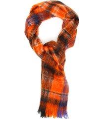 marni check scarf