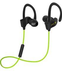 audífonos bluetooth, 56s deportes in-ear auricular audifonos bluetooth manos libres  inalámbrico auriculares estéreo earbuds auriculares bajos con micrófono para iphone 6 teléfono samsung (verde)
