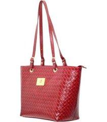 bolsa em couro grande quadrado - feminino