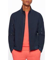boss men's water-repellent zip-up jacket