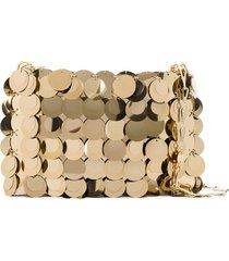 paco rabanne sparkle 1969 sequin shoulder bag - gold