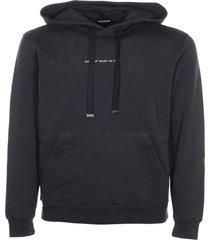 dondup logo print plain hoodie
