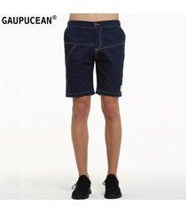 pantalones cortos casual gaupucean para hombre-armada