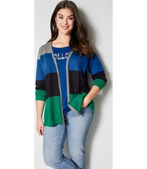 vest angel of style grijs::royal blue::groen::zwart