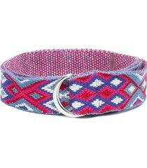 isabel marant d-ring cotton belt - blue