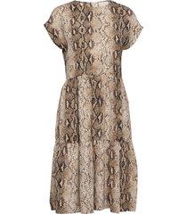 lira dress knälång klänning beige minus