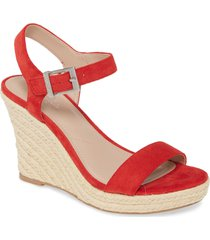 women's charles by charles david loyalist wedge sandal, size 11 m - red
