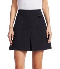 dane cotton a-line mini skirt