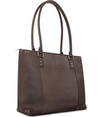 """solo jay 15.6"""" leather tote"""