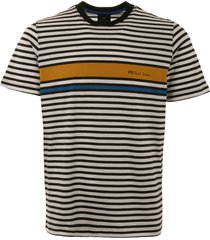ps by paul smith logo stripe t-shirt - ochre m2r-011r-a20239