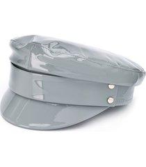 manokhi patent leather hat - grey