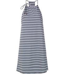track & field rede striped dress - white
