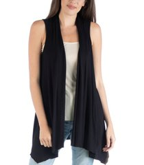 24seven comfort apparel draped open front sleeveless cardigan vest